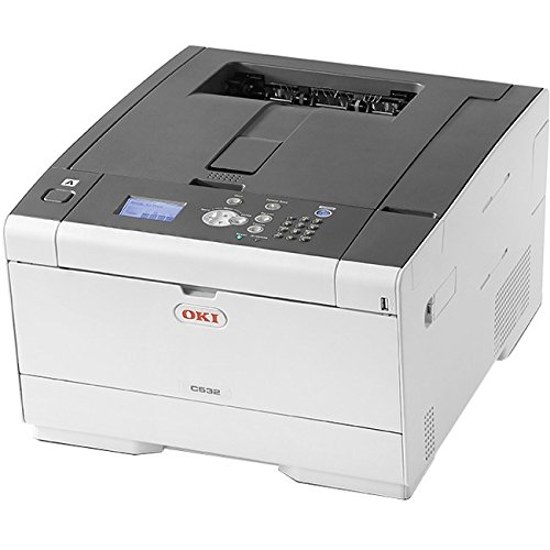 OKIData 62447101 C532dn LED Color Laser Printer (31 ppm) (667 MHz) (1 GB) (8.5 x 14) (1200 x 1200 dpi) (Max Duty Cycle 60000 Pages) (Duplex) (USB) (Ethernet) (250 Sheet Input Tray) (100 Sheet MPT
