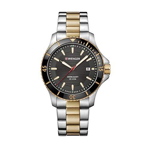 Wenger Hombre Seaforce - Reloj de Acero Inoxidable de Cuarzo analógic