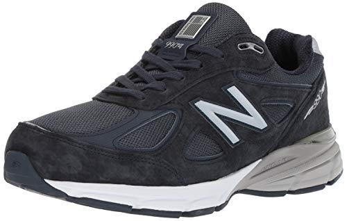 New Balance Men's 990v4 Sneaker, Navy/Silver, 10 UK