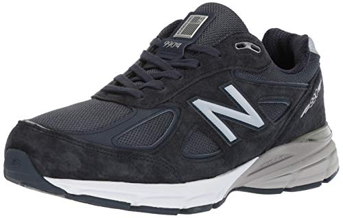 New Balance Men's Made 990 V4 Sneaker, Black/Grey, 10.5...