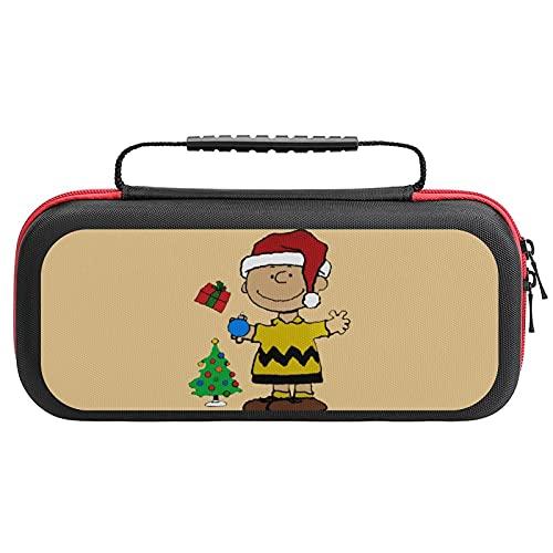 Charlie Brown Christmas Nintendo Switch用 スイッチ ハード ポーチ アクセサリー 収納バッグ ニンテンドースイッチ ケース 任天堂スイッチ用のキャリングケース 大容量 防塵 耐衝撃 全面保護
