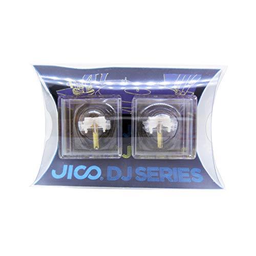 JICO レコード針 SHURE N44-7/DJ用交換針 【2個セット】 丸針 針カバー付 192-44-7/DJ two-piece
