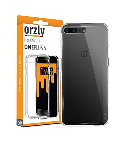 Orzly OnePlus 5 Hülle, FlexiHülle für das OnePlus 5 – [Slim-Fit] schützende, [Kratzfeste] Flexible Hülle, Schutzhülle, Hülle, Cover für das Neue 2017 OnePlus 5 Smartphone – Transparent
