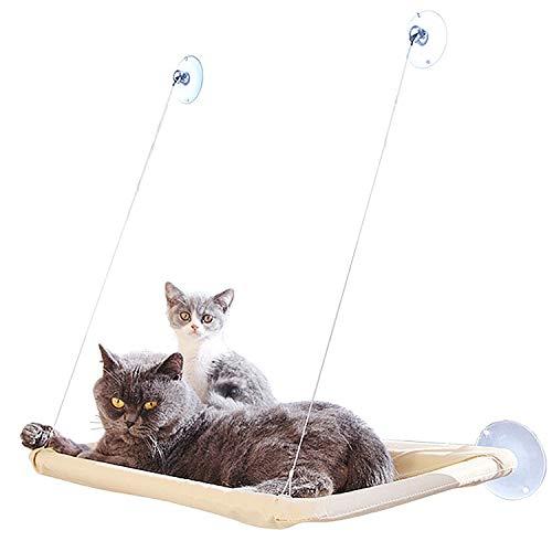 Inntek Katzen Fensterplatz Window Lounger Katzen Hängematte Katzendecke, Sonnenbad Katzenbett Haustierbett für Haustier Katze klein Hund Kaninchen oder Andere Kleintiere bis zu 20kg