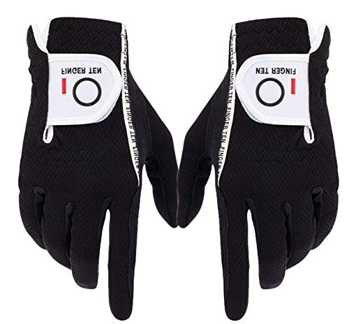 mens golf gloves black