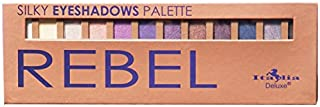 Italia Deluxe Silky Eyeshadows Palette with Brush (Rebel)
