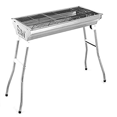 Polar Fire Charcoal Grill Portable BBQ - Stainless Steel Folding BBQ Camping Grill Shish Kabob Portable Camping Cooking for Travel Grill Outdoor