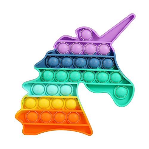 NC Fidget Toys Brinquedo antiestresse com cordas elásticas de malha para alívio de mármore para adultos e crianças