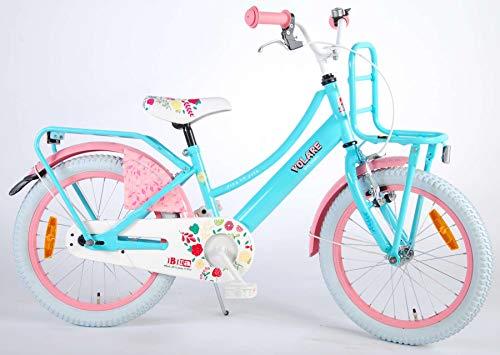 Volare Ibiza Kinderfiets - Meisjes - 18 inch - Blauw - 95% afgemonteerd