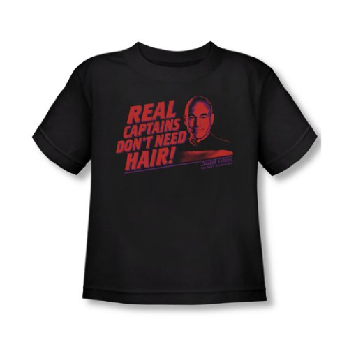 Star Trek - - Toddler T-Shirt vrai capitaine In Black, 2T, Black