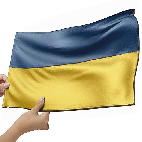 Ukraine Flagge als Lampe aus Holz - schenke deine individuelle Ukraine Fahne - kreativer Dekoartikel aus Echtholz