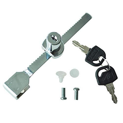 Profil Zylinder Rack Lock + 2 Schlüssel Für Fensterglastür ZylindergestellUnd 2 Schlüssel Design Für Glasvitrinen Mit 100% Neuer Und Hochwertiger Qualität
