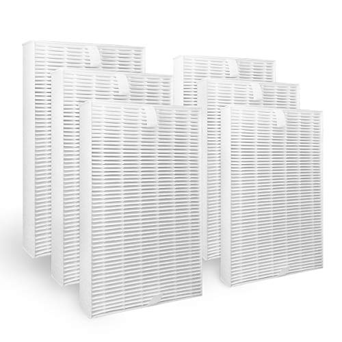 Leemone 6 Pack True HEPA Replacement Filter Compatible with Honeywell Air Purifier HPA300, HPA200, HPA100, HPA090 Series,Filter R (HRF-R3 & HRF-R2 & HRF-R1)