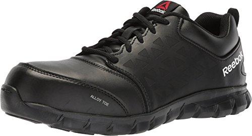 Reebok Men's Sublite Cushion Work Boot Alloy Toe (13 W, Black Leather)