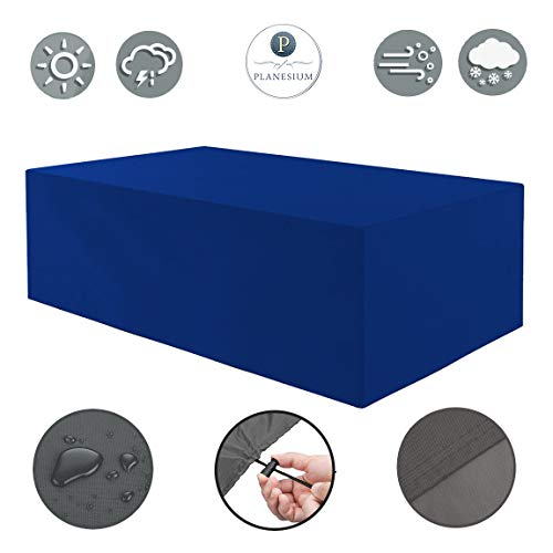 Holi Europa Premium beschermhoes tuinmeubelen afdekking/tuintafel afdekzeil B 250cm x D 140cm x H 90cm donkerblauw