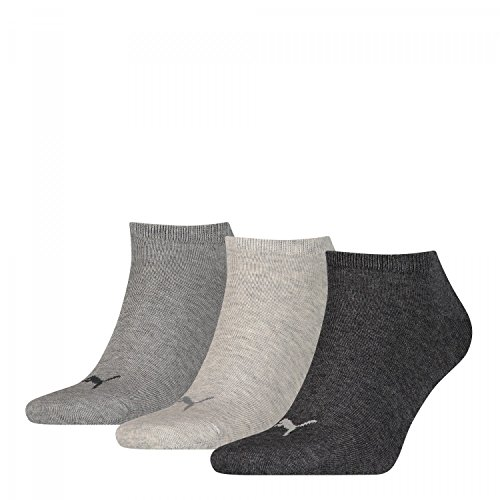 Puma Calcetines invisibles para calzado deportivo, 3 unidades (43-46)