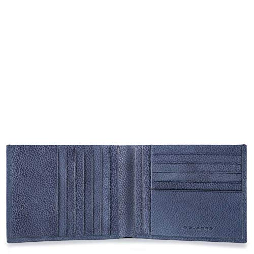 Piquadro Pulse Plus Portemonnaie, 13 cm, Nachtblau
