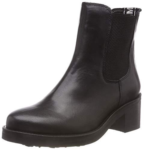 Hilfiger Denim Damen Essential Elastic Biker Boots, Schwarz (Black 990), 40 EU