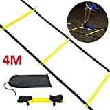 Nologo Agilité Ladder 4m Speed ​​Ladder Football flexibilité L'entraînement de Saut d'obstacles Kit Ladder for Adultes Enfants