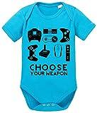 Choose Play Baby PS Strampler Bio Baumwolle Station Body Jungen & Mädchen 0-12 Monate, Größe:62/2-3 Monate, Farbe:Türkis