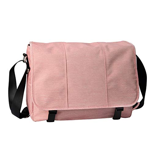 Marryking Classic Canvas Messenger Bag for All Purpose use, Pink, Size One_Size