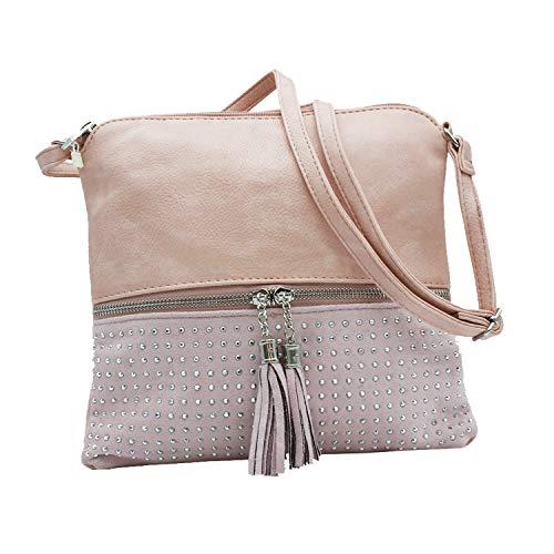 MISEMIYA - Borsa a Tracolla Borse Tracolla Donna borsa a Tracolla donna SR-J365-1 - Rosa