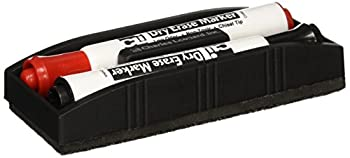Charles Leonard Magnetic Whiteboard Eraser with 2 Dry Erase Markers 1 Pack  74532