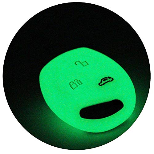 Coque de clé FF pour clé 3 boutons Auto Silicone Cover de Finest Folia Nachtleuchtend