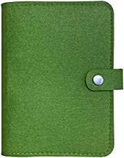 【harphia】システム手帳 ルーズリーフ手帳 手帳カバー A6 6穴 フェルト 青い