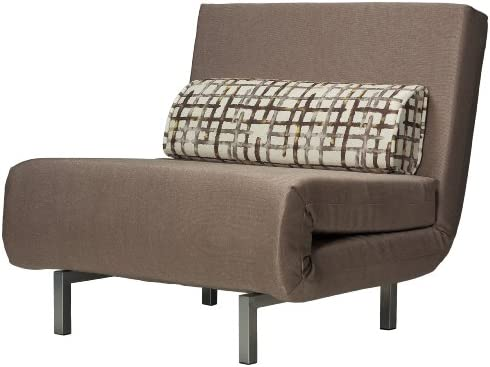 Best Cortesi Home Savion Convertible Accent Chair-Bed, Taupe