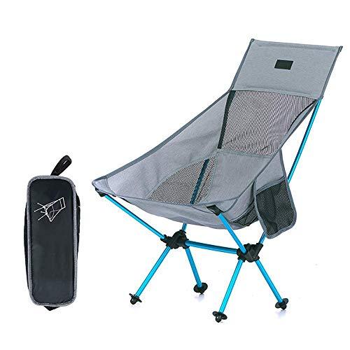Klappbarer Campingstuhl für den Außenbereich Tragbarer Moon Lounge Chair Strandkorb mit 1 Aufbewahrungstasche und Einkaufstasche Für den Außen- und Innenbereich