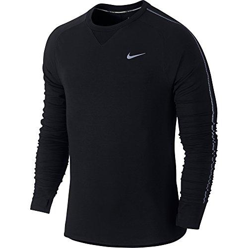 Nike Dri-FIT Sprint Crew T-Shirt à Manches Longues M Noir/argenté/éléments réfléchissants