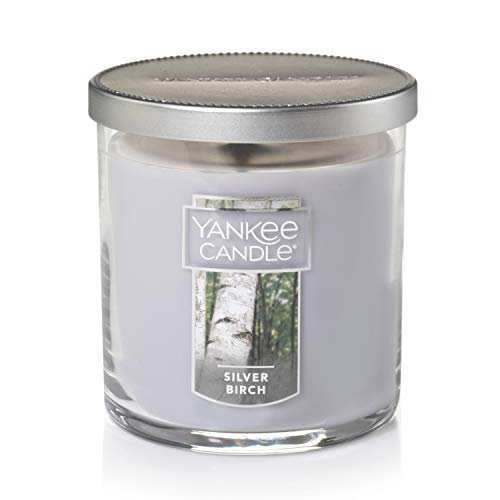 Yankee Candle Small Tumbler Jar Silver Birch Scented Premium Paraffin Grade Candle Wax with up to 55 Hour Burn Time