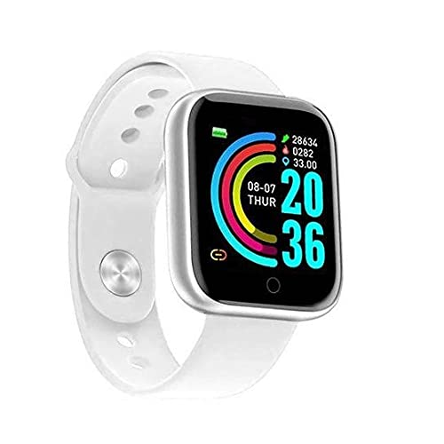 Rambot (5 Year Warranty) T70 Touchscreen Smart Watch Bluetooth Smartwatch with Heart Rate Sensor and Basic Functionality for All Boys & Girls with 1 Years Replacement Warranty in All Over India White