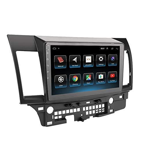 Reproductor de Audio EstéReo para AutomóVil, Multimedia para AutomóVil 2Din 10.1In Reproductor Mp5 para AutomóVil NavegacióN Gps Audio EstéReo para Android 9.1 Se Adapta A Mitsubishi Lancer-Ex