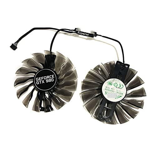 Jinyouqin 2 Teile/Set palit gtx1070 gtx1080ti GPU VGA Alternative Kühlerlüfter für GeForce GTX1080 TI GTX 1070/1080 Grahics-Karte als Repalcement (Blade Color : GAA8S2H)