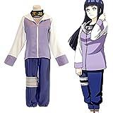 QQA Cosplay Traje para Mujer Hyūga Hinata Anime Mujer Ninja Traje de Uniforme para Halloween,Púrpura,XL
