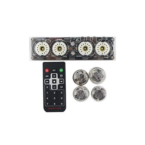 LED Nixie Tube Clock Creative Digital Tube Clock LED-Uhr mit Fernbedienung, 4-Bit-Uhr mit Integriertem Design & LED-Hintergr&beleuchtung für QS30-1/SZ1-1/SZ3-1/SZ-8 (ohne elektronisches Rohr)