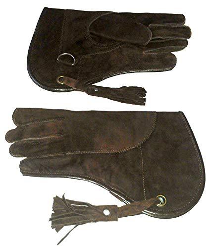 Altawash New Falknerei Handschuh Wildleder Leder Double Layer Standard Größe 30,5cm lang braun