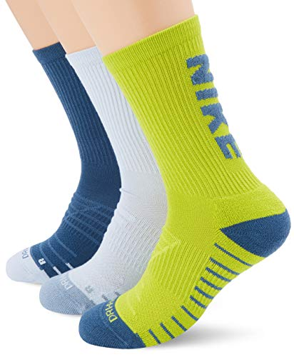 Nike Nike Everyday Max Cushioned Crew Training Socks (3 Pair), Multi-Color, Large