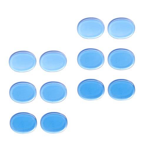 Unbekannt 12 Stück / Set Snare Drum Gel Pads Sound Off Übungsdämpfer für Stumme Instrumente - Blau