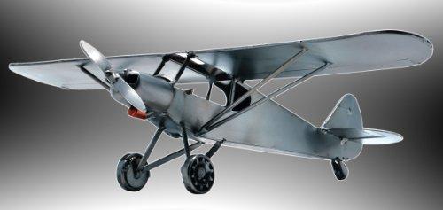 Boystoys HK Design - Piper Propeller-Flugzeugmodell - Metall Art Geschenkideen Deko Flieger - hochwertige Original Schraubenmännchen Modellflugzeuge handgefertigt