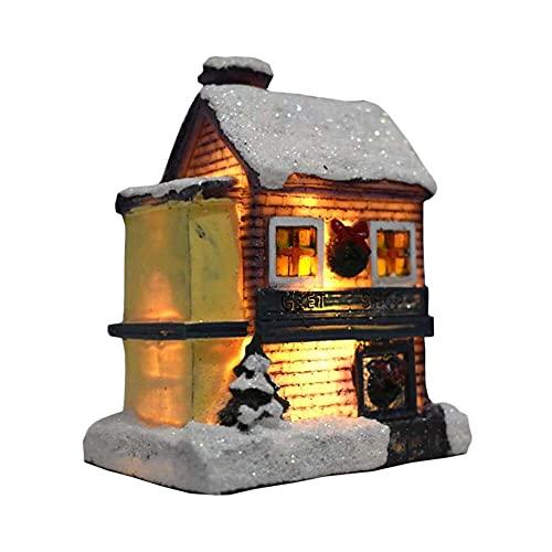YuKeShop Village Collection - Decoración de Navidad con luz LED en miniatura para decoración de Navidad