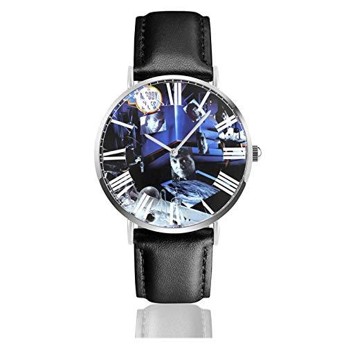 Reloj de Pulsera Anthony Bourdain Durable PU Correa de Cuero Relojes de Negocios de Cuarzo Reloj de Pulsera Informal Unisex
