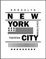 【FOX REPUBLIC】【ニューヨーク 星条旗】 白光沢紙(フレーム無し)A2サイズ