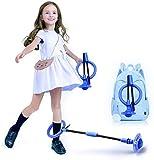 Queta Saltar Bola Cuerda para Saltar Tobillo Bola de Salto de Tobillo Plegable con Contador Integrado Sin Pilas Juguete Parpadeante Saltador para niños a Partir de 3 años y Adultos (Azul)