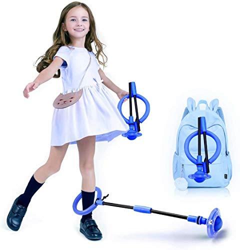 Queta Cuerda para Saltar Tobillo Bola de Salto de Tobillo Plegable con Contador Integrado Sin Pilas Juguete Parpadeante Saltador para niños a Partir de 3 años y Adultos (Azul)