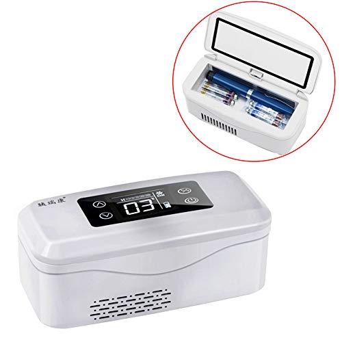 YPBX Tragbarer InsulinküHler, KüHlbox FüR Medikamente Mit 2 Bis 8 ° C, HalbleiterküHlung, Kleiner KüHlschrank FüR Zu Hause/Auto/Reise