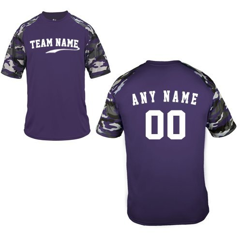 4eec0780015 Camo Sleeve Jersey Blank or CUSTOM (Team Name Front, Name/# on Back