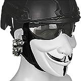 AQzxdc Casco táctico rápido, con máscara en V de Media Cara y Gafas para el Juego de Juego...